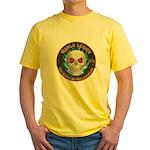 Legion of Evil Accountants Yellow T-Shirt