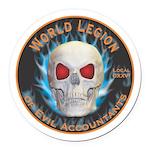 Legion of Evil Accountants Round Car Magnet