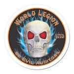 Legion of Evil Auditors Round Car Magnet