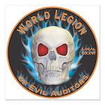 Legion of Evil Auditors Square Car Magnet 3