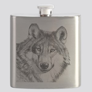 Endangered Species--North American Gray Wolf Flask