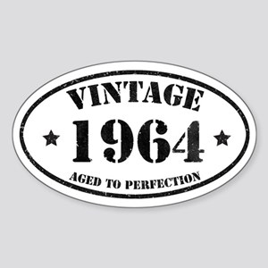Vintage Aged to Perfection 50 Sticker (Oval)