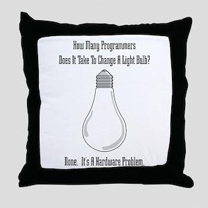 Change Bulb Throw Pillow