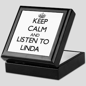Keep Calm and listen to Linda Keepsake Box