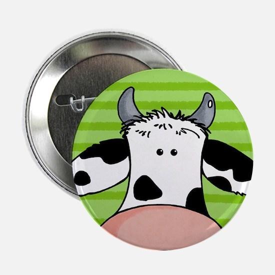 close up cow Button
