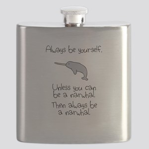 Always Be A Narwhal Flask