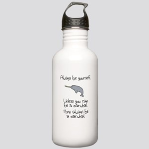 Always Be A Narwhal Sports Water Bottle