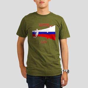 Russia World Cup 2014 Organic Men's T-Shirt (dark)