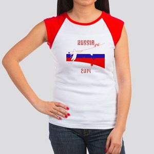 Russia World Cup 2014 Women's Cap Sleeve T-Shirt