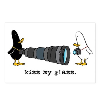 WTD: Kiss My Glass Postcards (Package of 8)