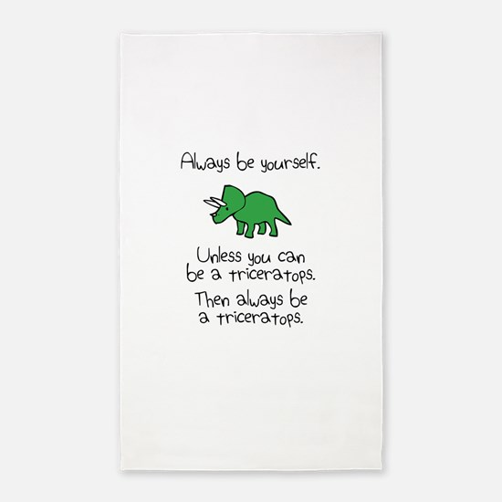 Always Be A Triceratops 3'x5' Area Rug