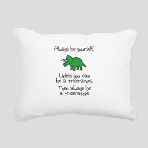 Always Be A Triceratops Rectangular Canvas Pillow