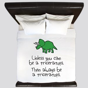 Always Be A Triceratops King Duvet