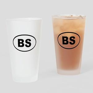 Bahamas BS Drinking Glass