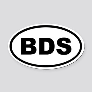 Barbados BDS Oval Car Magnet