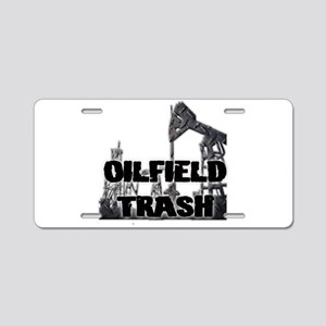 Oilfield Trash Diamond Plate Aluminum License Plat