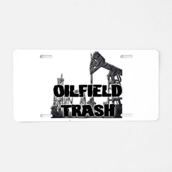 Oilfield Trash Diamond Plate Aluminum License Plat