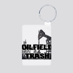 Oilfield Trash Diamond Plate Keychains