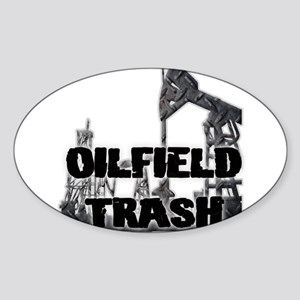 Oilfield Trash Diamond Plate Sticker