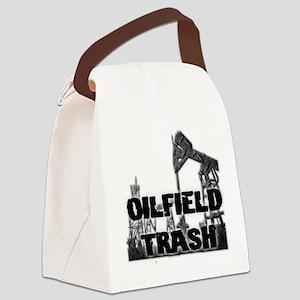 Oilfield Trash Diamond Plate Canvas Lunch Bag