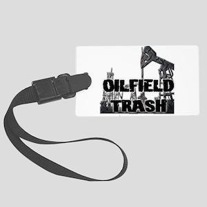 Oilfield Trash Diamond Plate Luggage Tag