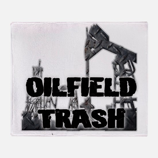Oilfield Trash Diamond Plate Throw Blanket