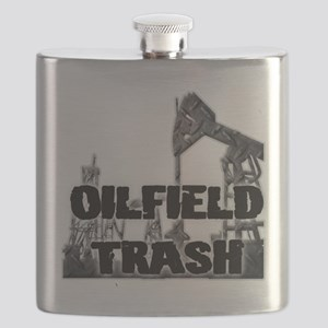 Oilfield Trash Diamond Plate Flask