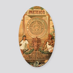 Mexico Oval Car Magnet