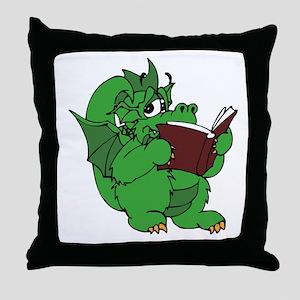 Dragon Reading Throw Pillow