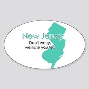 New Jersey Oval Sticker