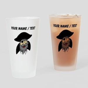 Custom Pirate Cartoon Drinking Glass