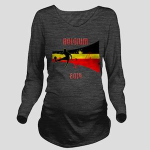 Belgium World Cup 2014 Long Sleeve Maternity T-Shi