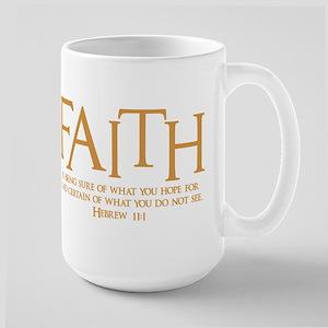 Hebrew 11:1 Large Mug