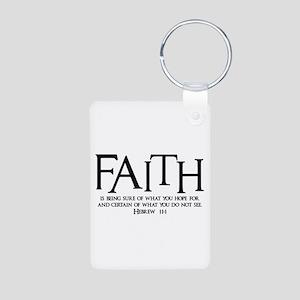 Hebrew 11:1 Aluminum Keychain (2-sided)