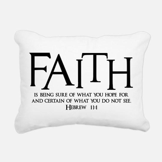Hebrew 11:1 Rectangular Canvas Pillow