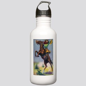 Cowgirl on Bucking Hor Stainless Water Bottle 1.0L