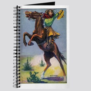 Cowgirl on Bucking Horse Journal