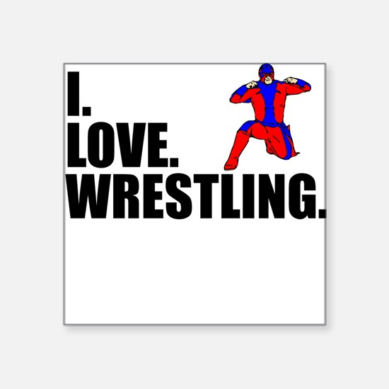 I Love Wrestling Sticker