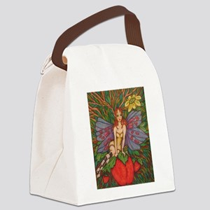 Strawberry Fairy Canvas Lunch Bag