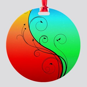 Warm and Cool Round Ornament