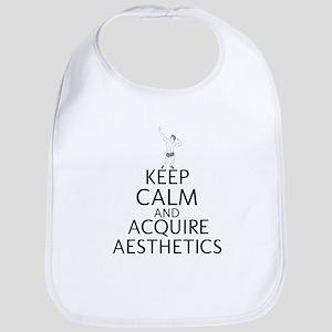 Keep Calm And Acquire Aesthetics Bib
