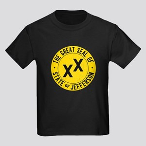 State of Jefferson Flag Kids Dark T-Shirt