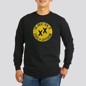 State of Jefferson Flag Long Sleeve Dark T-Shirt