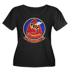 VFA-113 Women's Plus Size Scoop Neck Dark T-Shirt