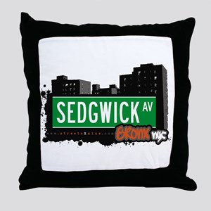 Sedgwick Av, Bronx, NYC Throw Pillow