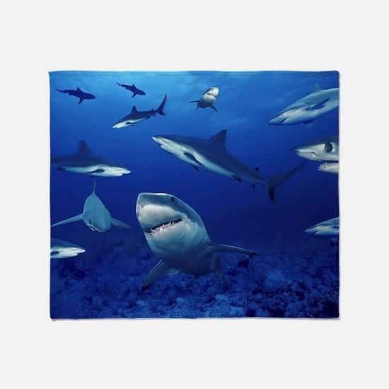 Sharks! Throw Blanket