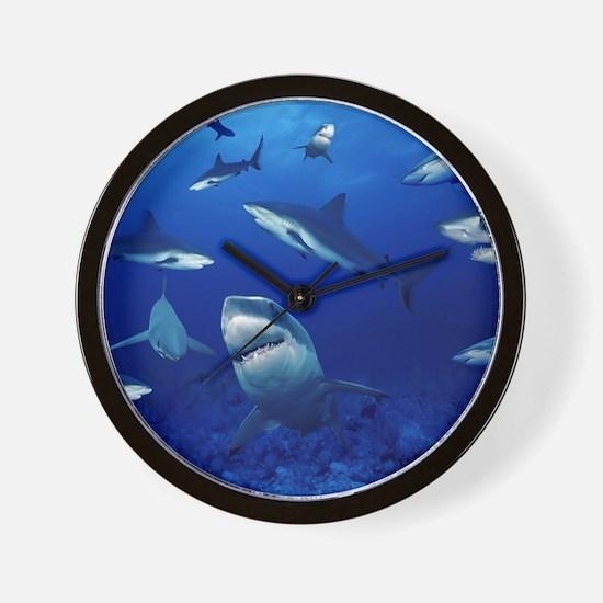 Sharks! Wall Clock