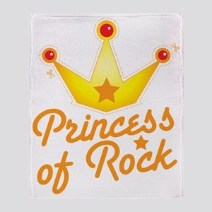 Princess of ROCK with royal crown an Throw Blanket