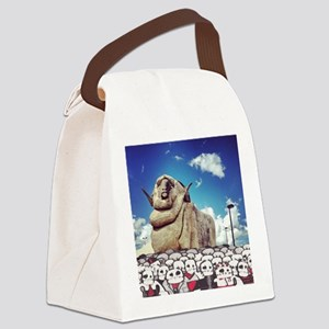 zombies attack: the big merino Canvas Lunch Bag