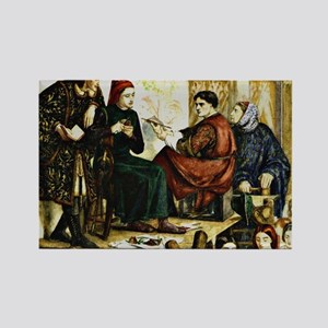 Giotto Painting the Portrait of D Rectangle Magnet